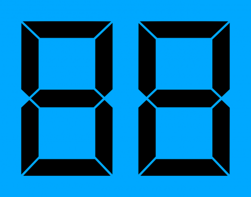 lcd digits display