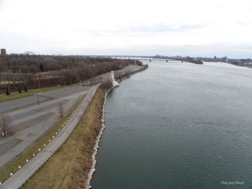 The St. Lawrence River In Montreal