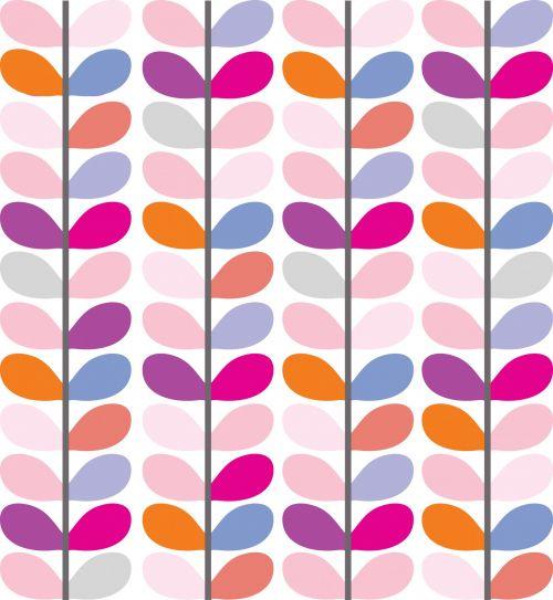 Leaf Pattern Colorful Wallpaper