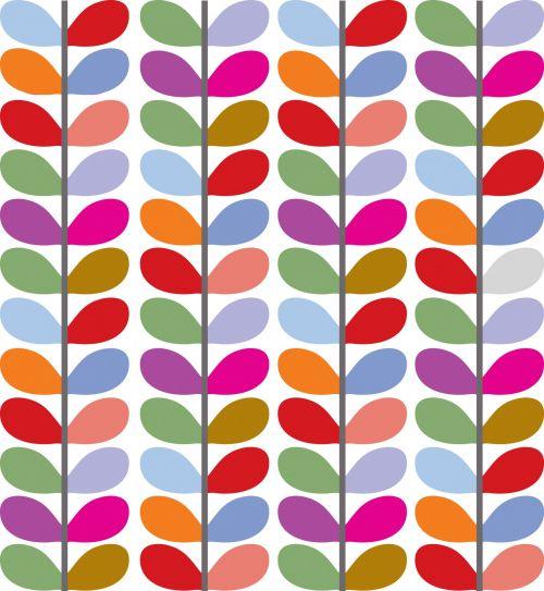 Leaf Pattern Colorful
