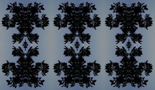 lapai, lapija, tamsi, siluetai, fonas, mėlynas, lapų siluetai
