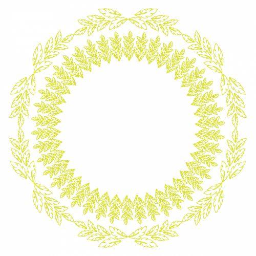 Leaf Wreath Pattern