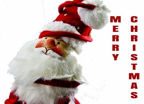 Leaning Santa