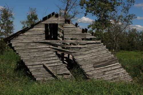 Leaning Wooden Shed