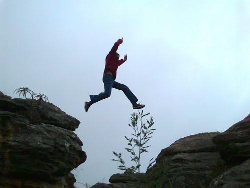leap jump chasm
