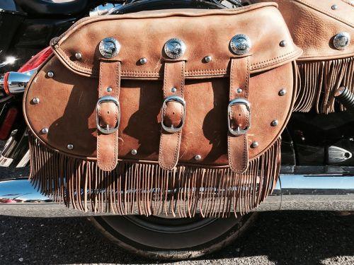 leather bag motorbike
