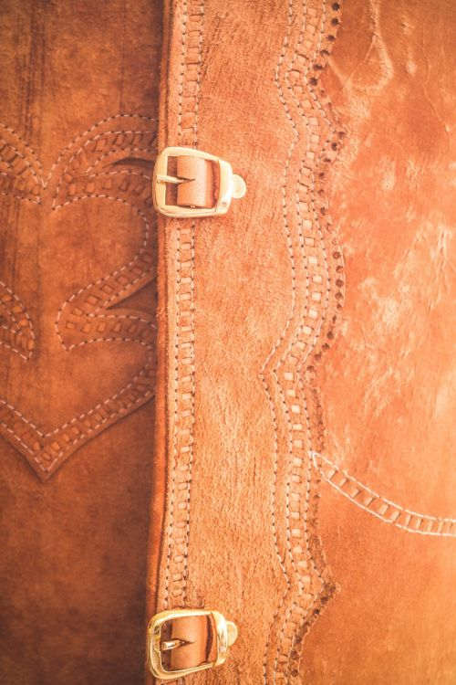 leather buckle clothes