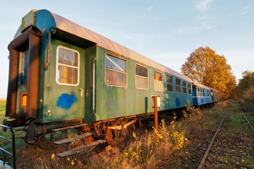 leave train railway line