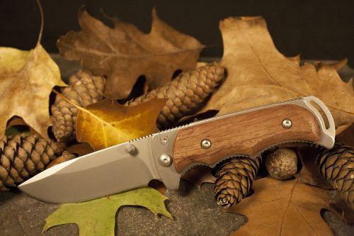 leaves knife autumn
