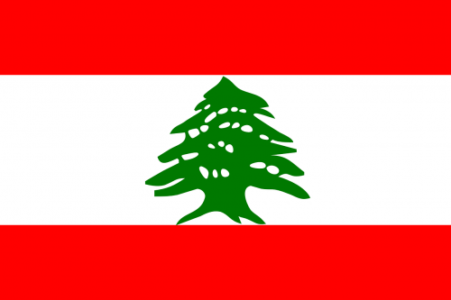 lebanon flag national