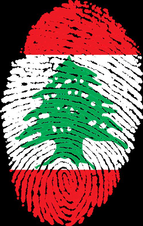lebanon flag fingerprint