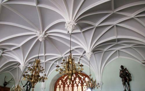 lednice castle ornate ceiling