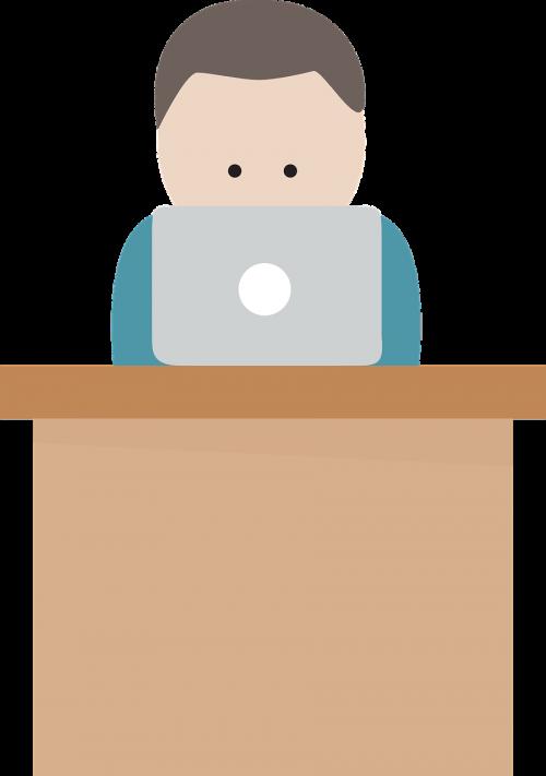 lee berger desk laptop