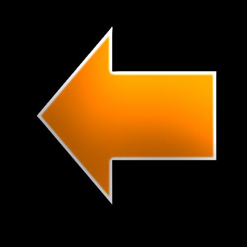 left arrow yellow