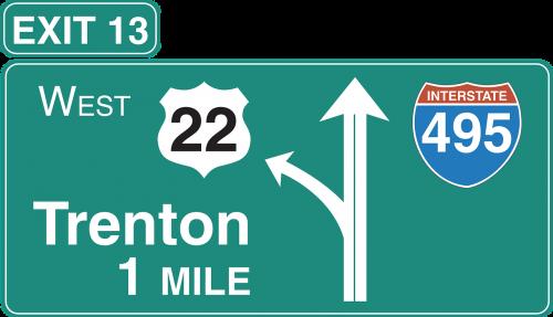 left road exit