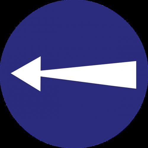 left arrow direction