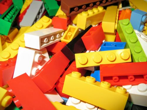 lego multicolor bricks