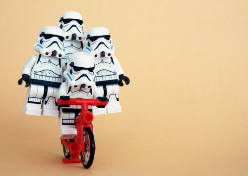 lego stormtrooper cycling