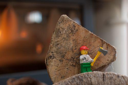 lego figurine wood