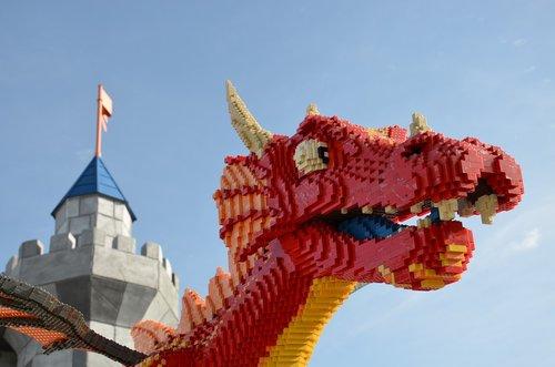 lego  dragon  legoland