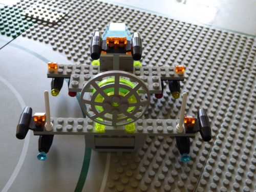 lego blocks assembled flying object