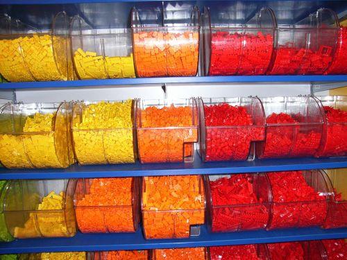 lego brick yellow orange