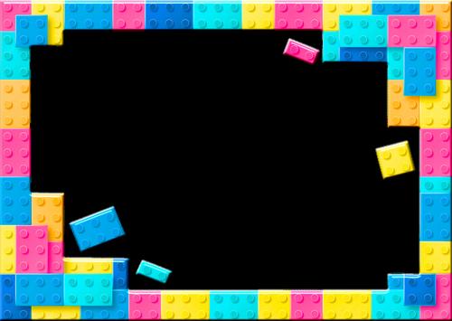 lego frame  lego building blocks  pastel