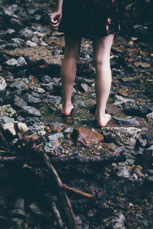 legs bare feet female