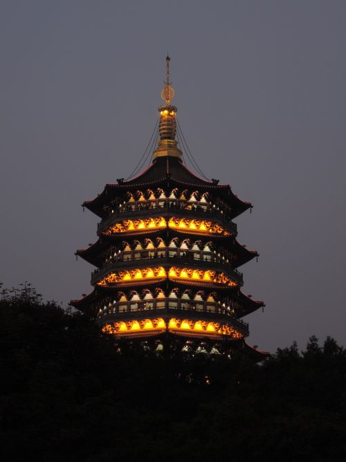 leifeng pagoda magnificent late