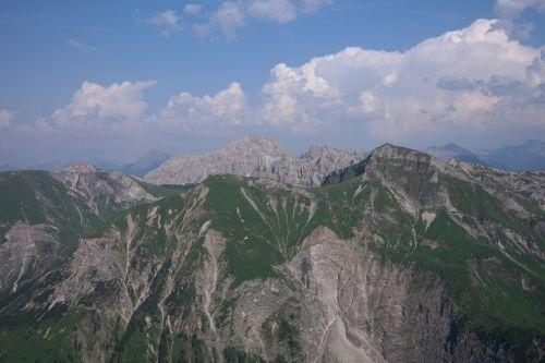 leilachspitze top of pools mountain
