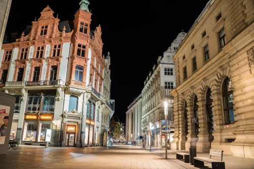 leipzig city night
