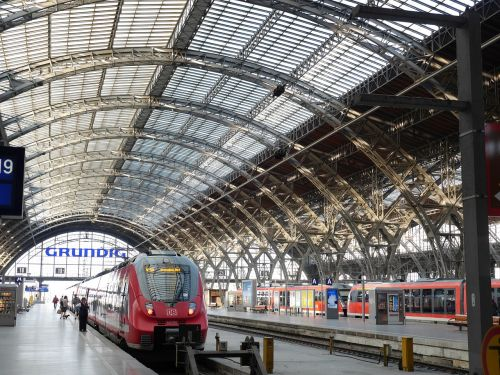 leipzig railway station train