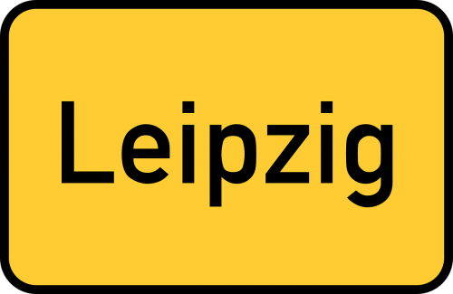 leipzig town sign city limits sign