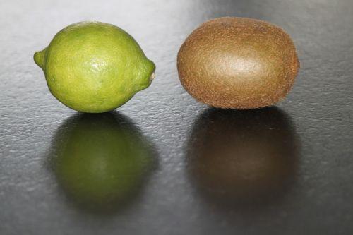 lemon kiwi fruits