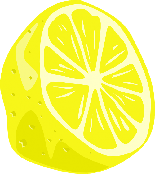 lemon half fruit
