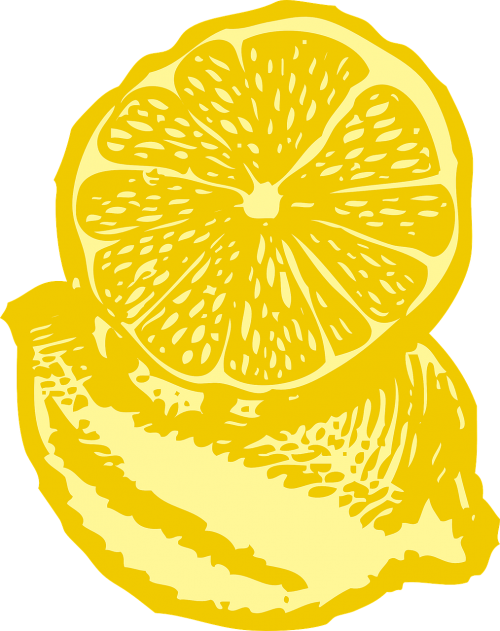 lemon yellow slice