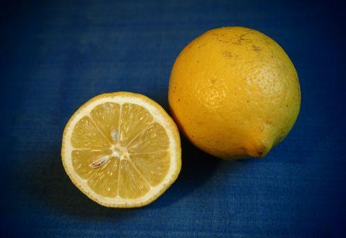 lemon slice of lemon yellow