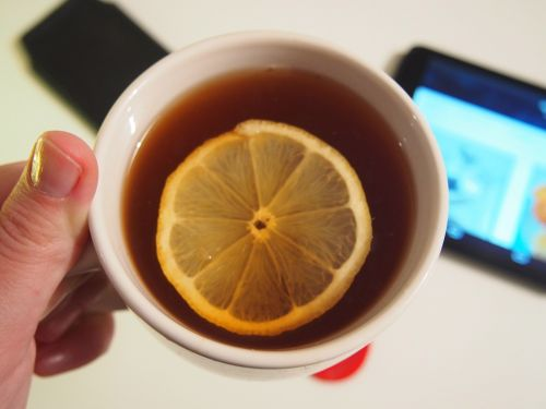 lemon tea cup