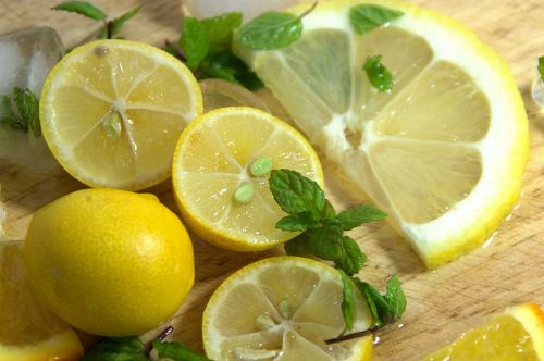 Lemon And Mint Closeup