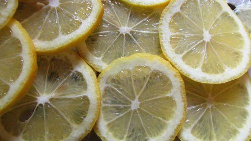 lemon slices citrus fruit