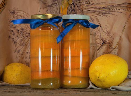 Lemon Slices Preserved And Bottled