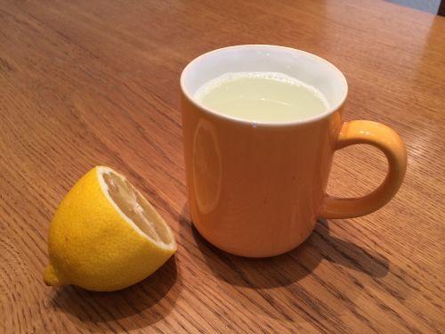 lemon tea cold healthy