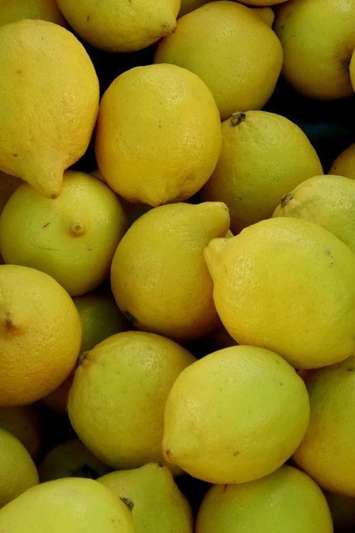 lemons yellow sour