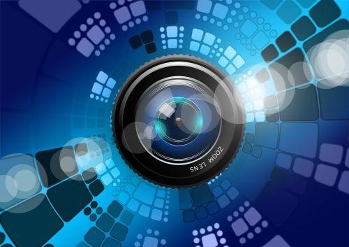 lens photography blue