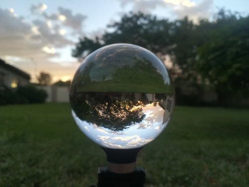 lens  lens ball  sunset