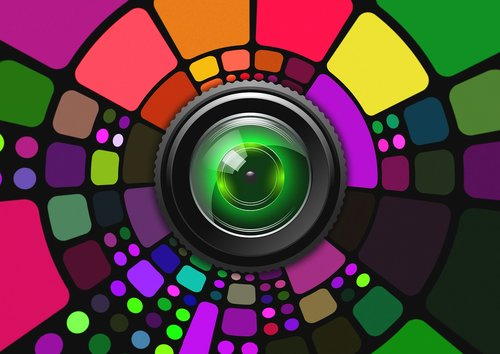 lens  colorful  background