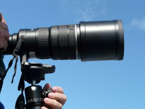 lens camera tripod