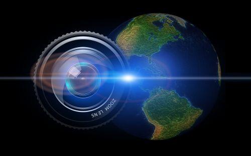 lens camera earth