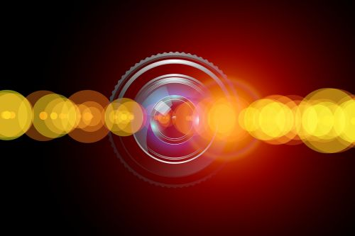 lens reflection isolated background