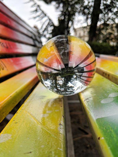 lensball  crystal  colorful